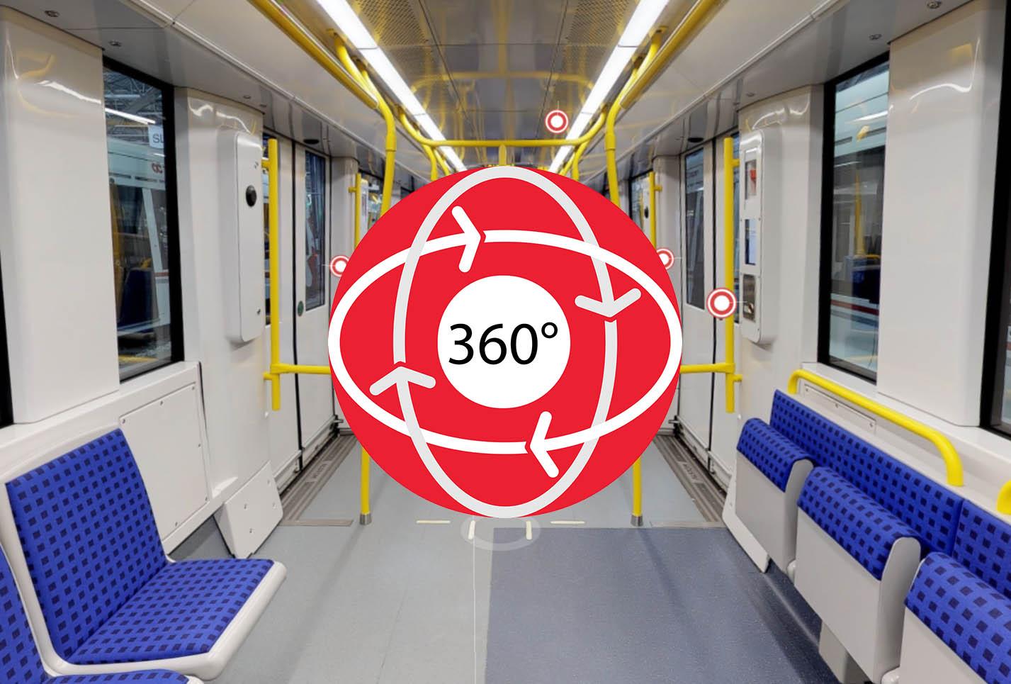 Image - Prêt pour l'O-Train : une visite virtuelle 360 degrés d'un train de la ligne 1 de l'O-Train