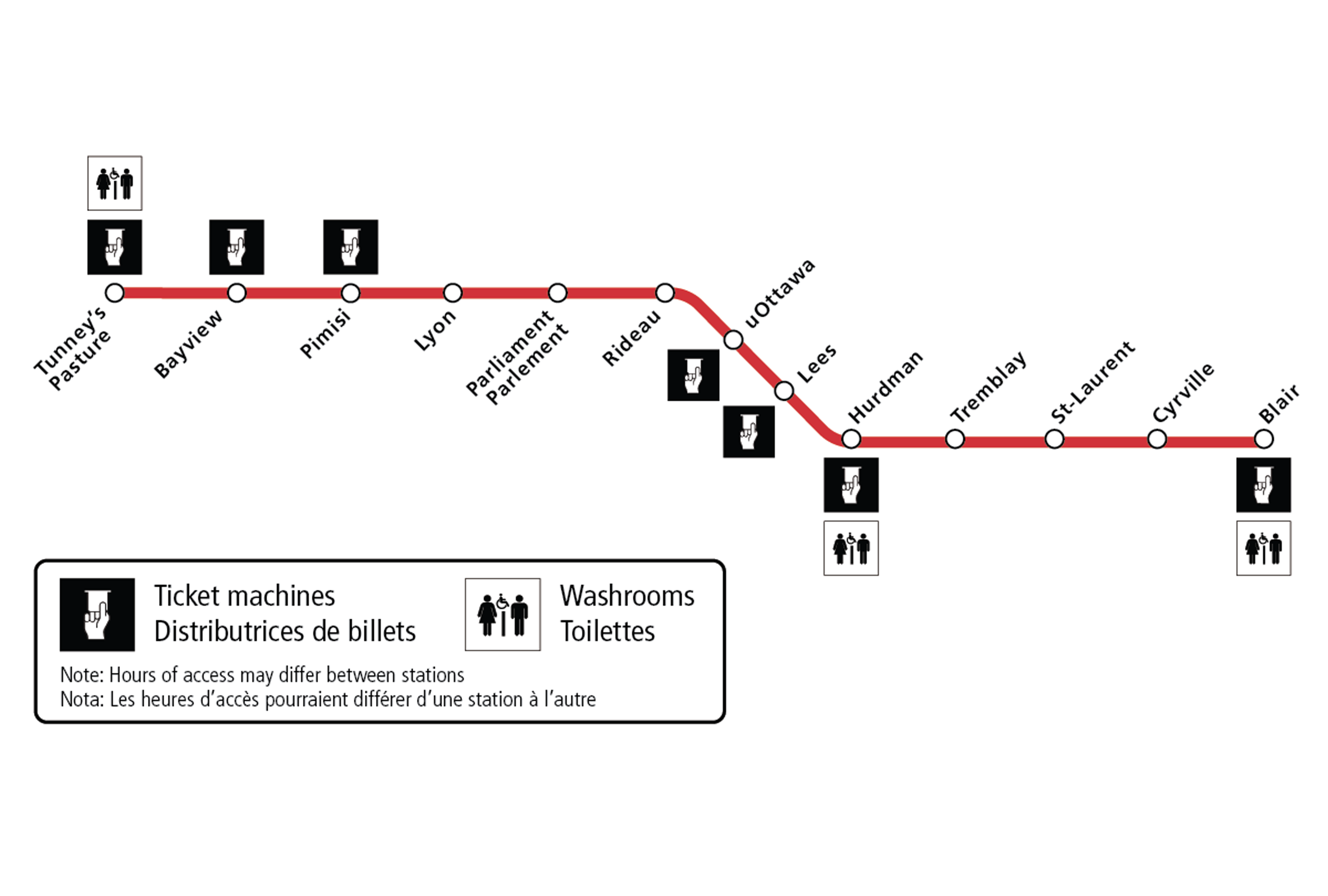 Image - Ticket machines and washrooms available during O-Train Line 1 suspension