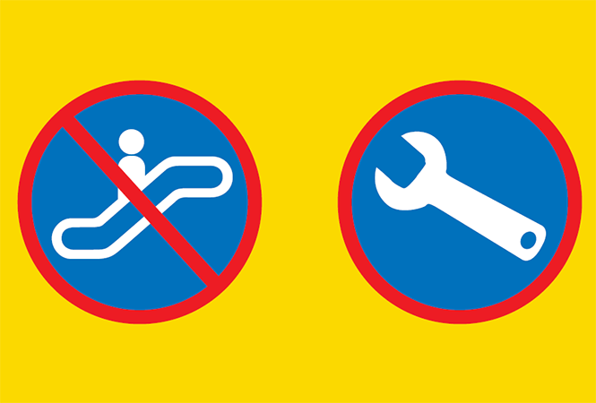 Image - Escalator maintenance along Line1