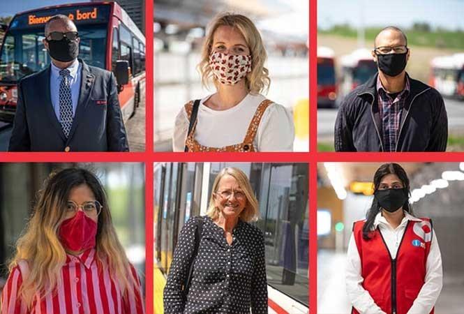 Image - Cloth masks on transit
