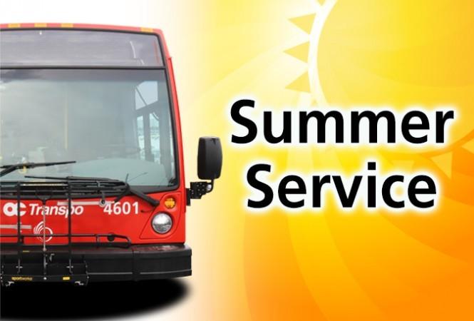 Bus with a sun