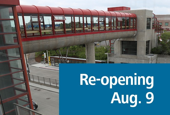 Image - Blair Station Pedestrian Overpass Re-opening Friday