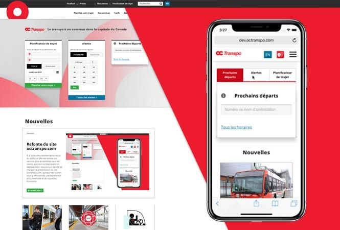 Image - Refonte du site octranspo.com